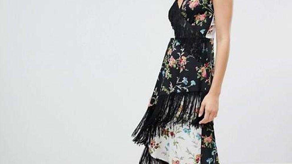 Asos anima la desescalada con este vestido tipo mantón de Manila y una rebaja del 70%