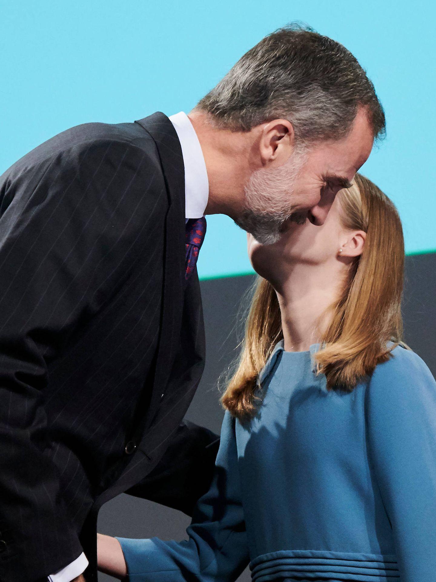 El rey Felipe y la princesa Leonor. (Limited Pictures)