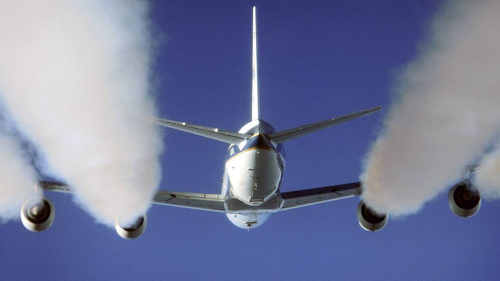 Foto: Las estelas de condensación aumentan el efecto invernadero. Foto: EFE/Eddie Winstead.