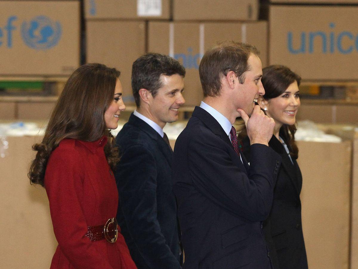 Foto: Los duques de Cambridge, con Federico y Mary de Dinamarca en 2011. (Getty)