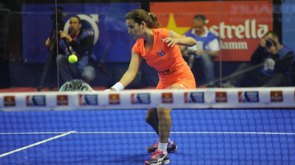 Foto: Ariana Sánchez durante el partido de cuartos de final del Santander Open. (World Padel Tour)