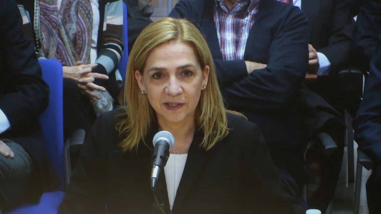 Foto: La infanta Cristina durante su declaración (Reuters)
