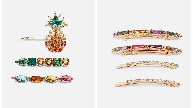 Pack pinzas joya (12,95 euros) y pack pinzas piña joyas (12,95 euros).
