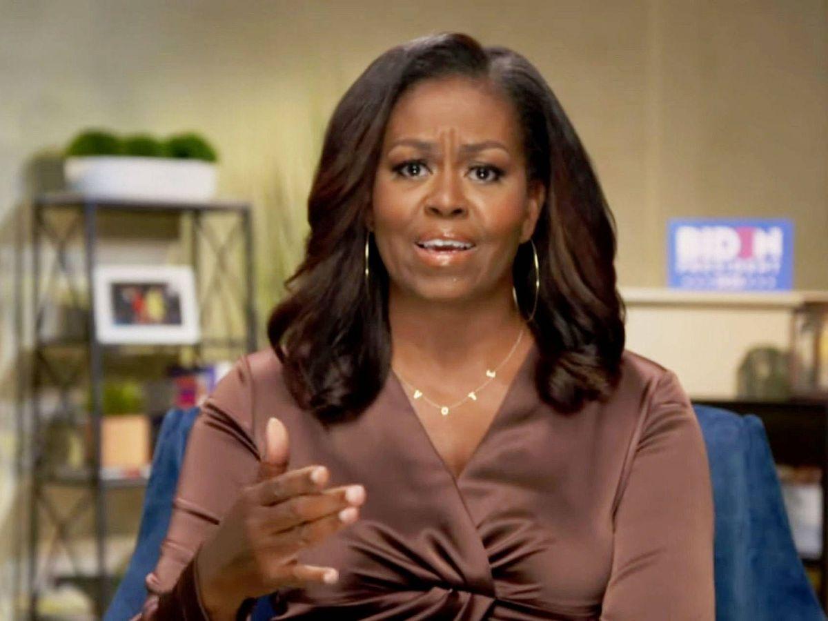 Foto: Michelle Obama en la Convención Nacional Demócrata. (EFE)