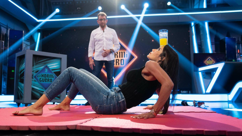 Pilar Rubio haciendo un reto en 'El hormiguero'. (7yAcción)