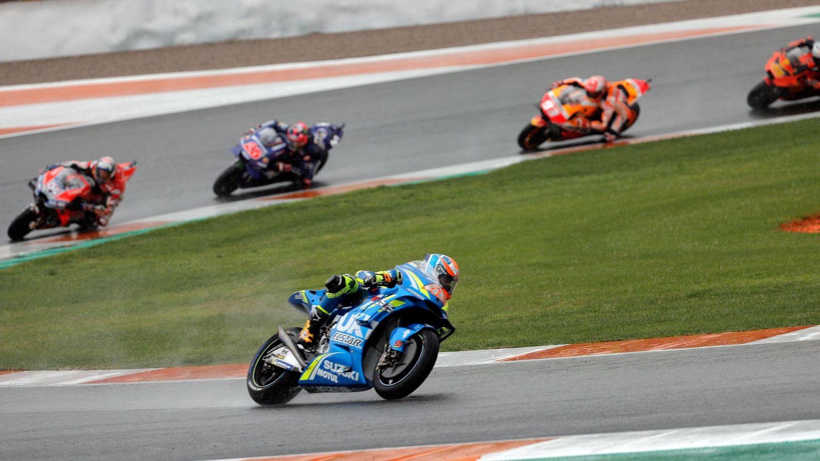 Foto: Carrera de Moto GP en el circuito Ricardo Tormo de Cheste en 2018. (Efe)