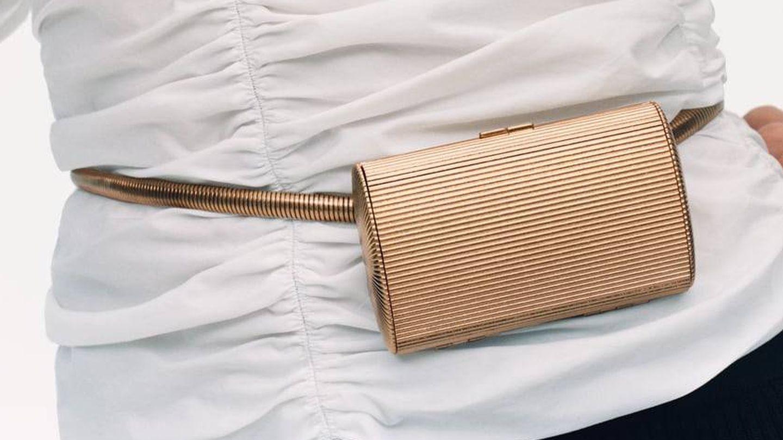 Cinturón metálico de Zara. (Cortesía)