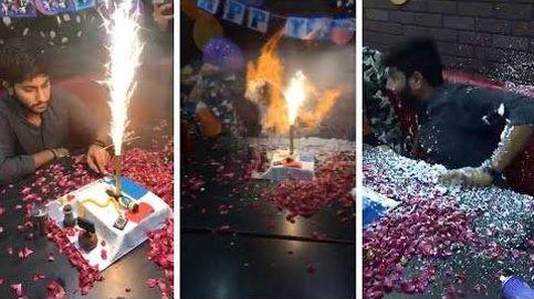 Termina envuelto en llamas por las velas de su tarta de cumpleaños