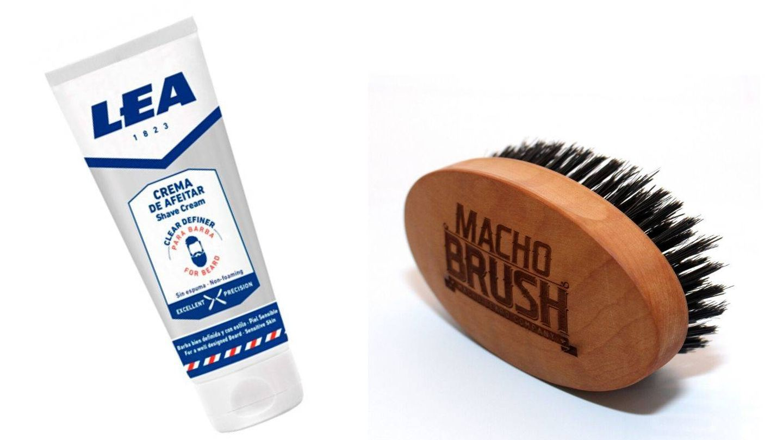 Cosméticos para diseñar y peinar la barba.
