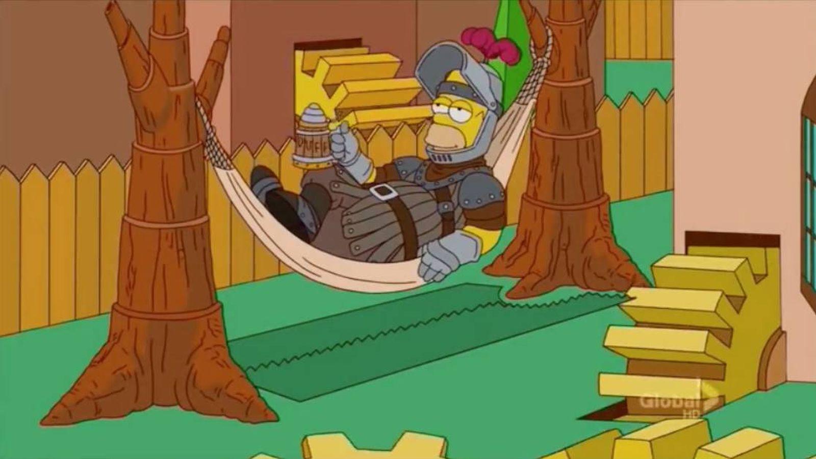 Foto: Homer Simpson, en la cabecera de 'Juego de Tronos'. (Fox)
