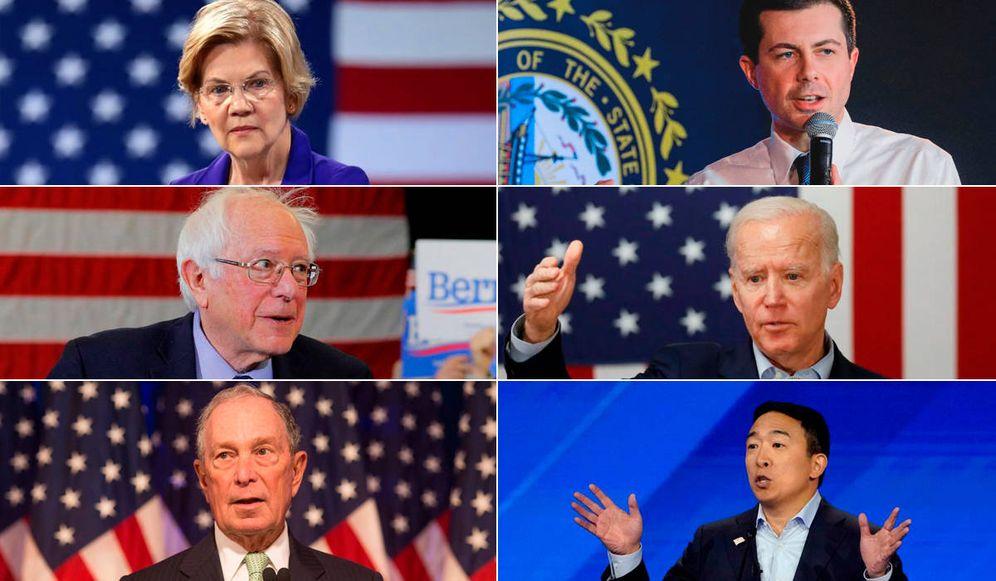 Foto: Los principales candidatos Demócratas