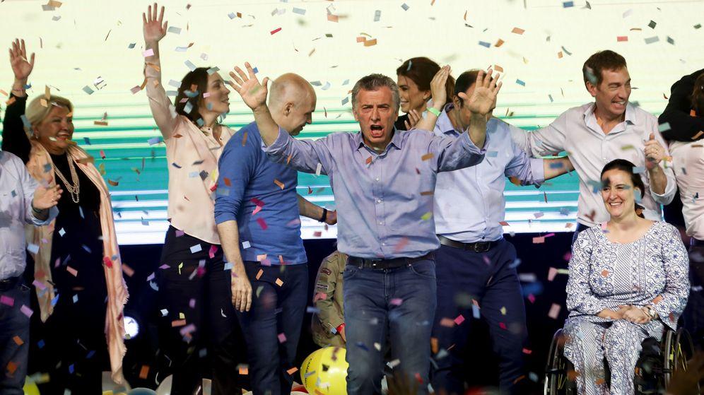 Foto: l presidente argentino, Mauricio Macri (c), celebra el resultado de las elecciones. (EFE