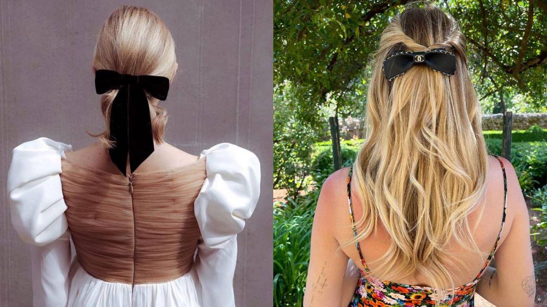 Pasador de Jennifer Behr y el peinado de Chiara Ferragni. (Instagram @jenniferbehr / @chiaraferragni)