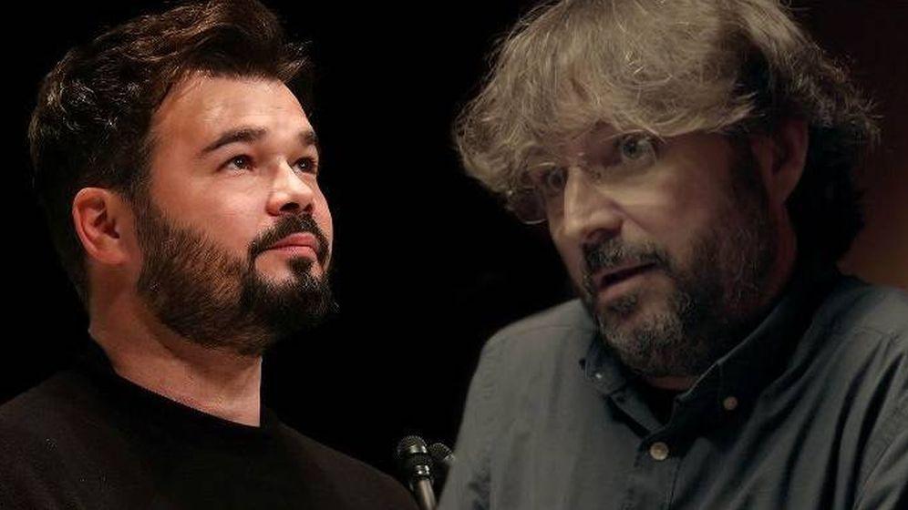 Foto: Gabriel Rufián y Jordi Évole.