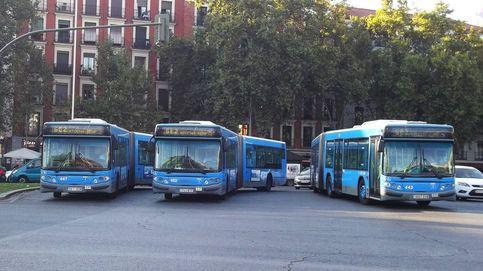 Los autobuses de Madrid aprovechan la visita de Greta para ir a la huelga