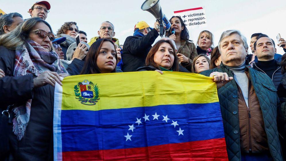 Foto: Manifestación de Asociación Civil Venezolana en España. (EFE)