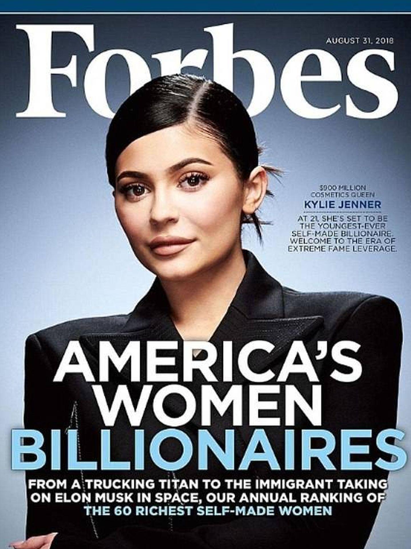 Kylie Jenner en la portada de 'Forbes'.