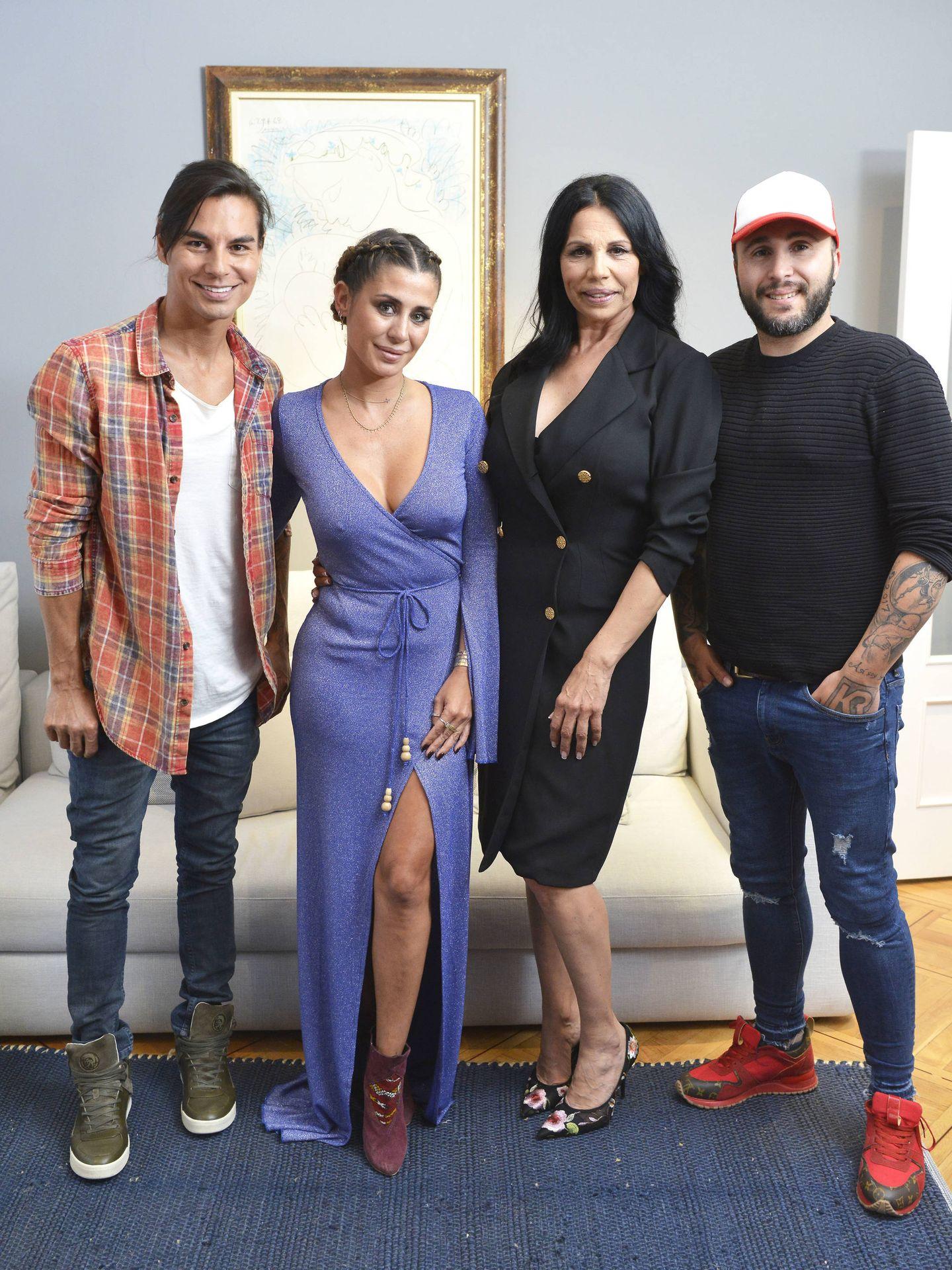 Julio Iglesias Jr, Elena Tablada, Toñi Salazar y Kiko Rivera. (Mediaset)