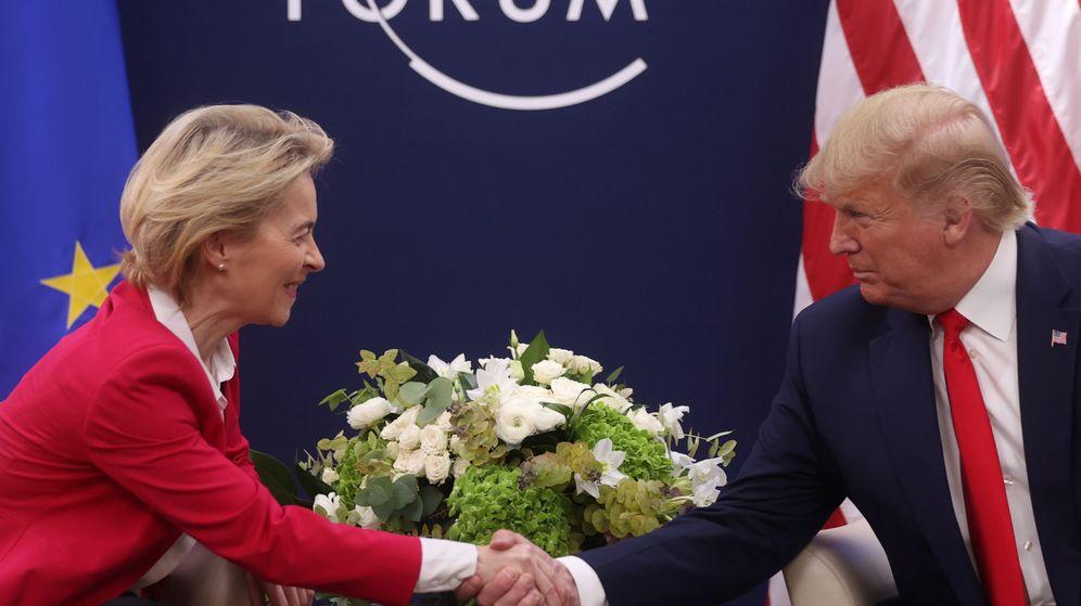 Foto: Von der Leyen y Trump. (Reuters)