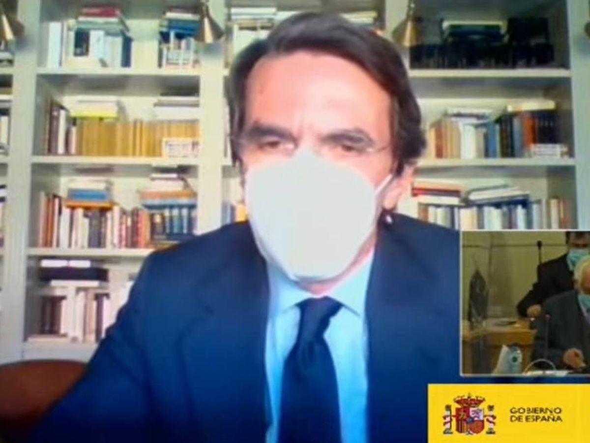 Foto: Declaración de Aznar. (EC)