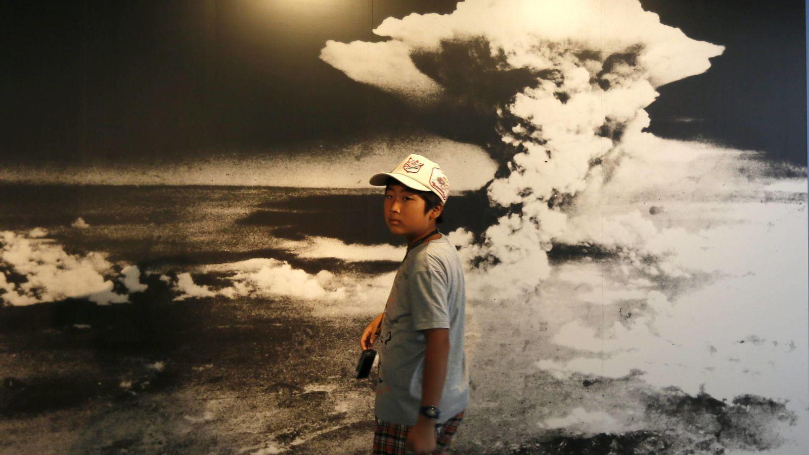 Foto: Conmemoración del aniversario del lanzamiento de la bomba sobre Hiroshima (EFE)