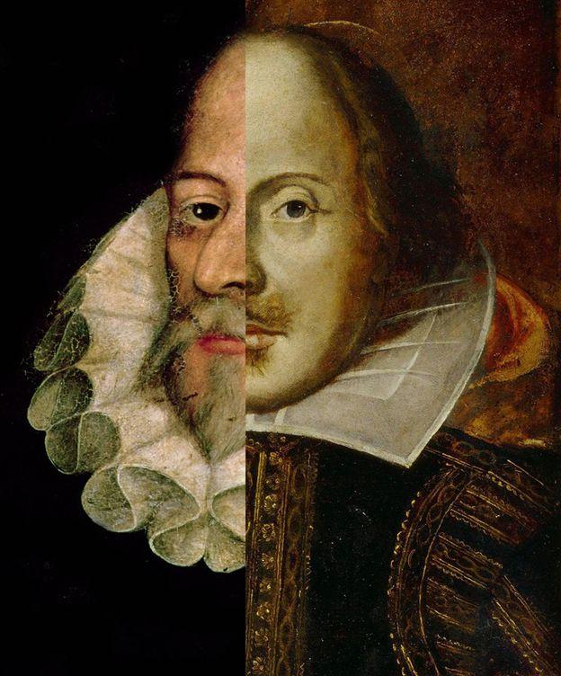 Foto: Miguel de Cervantes (i) y William Shakespeare (d). (EC)