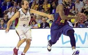 El Barça entrena con el Laboral Kutxa con un ojo puesto en Milán