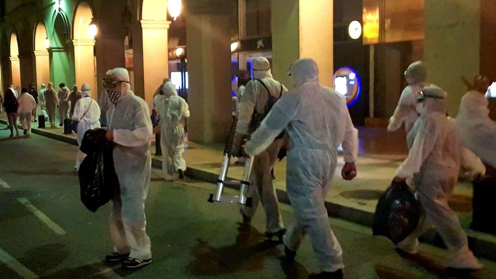 Varios heridos leves en Girona tras un enfrentamiento por retirar lazos amarillos