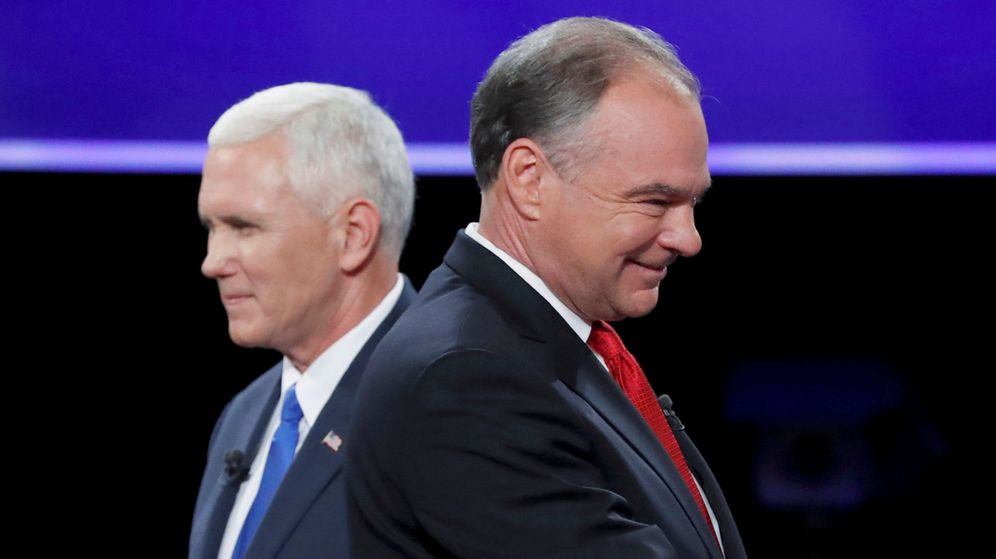 Foto: Mike Pence (I) y Tim Kaine (D). (Reuters)