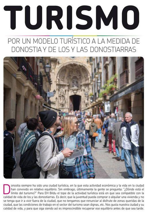 Foto: Portada del periódico editado por EH Bildu de San Sebastián. (EC)