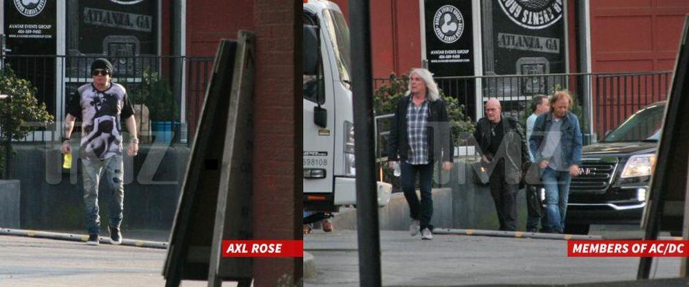 Foto: Axl Rose y AC/DC en Atlanta (Foto: Tmz.com)