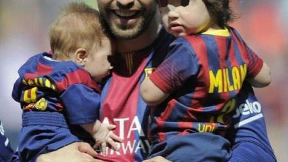 Shakira y Piqué, muy orgullosos del primer gol de Milan en el Camp Nou