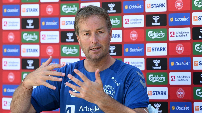 El técnico danés durante la rueda de prensa. (EFE)