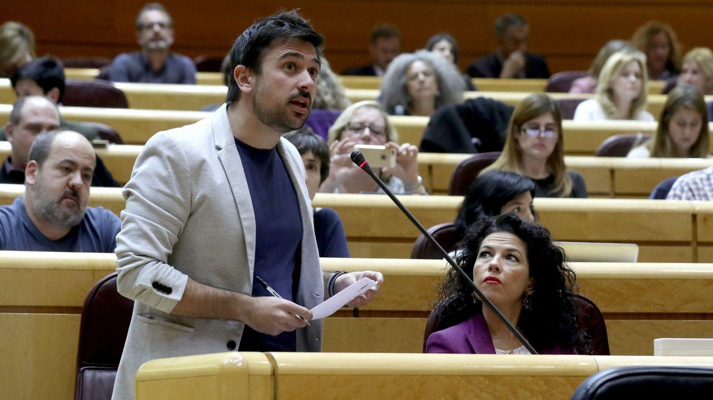 El portavoz de Podemos en el Senado, Ramón Espinar. (EFE)