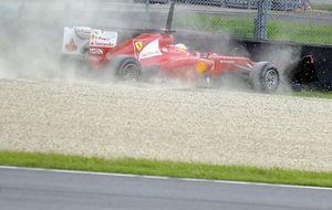 Alonso termina tercero, tras un pequeño golpe, en el último día de test en Mugello que dominó Grosjean