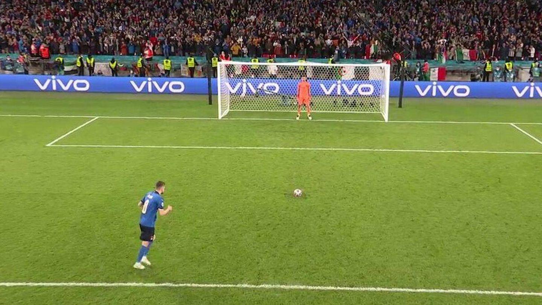Jorginho terminó con el sueño de España en la Eurocopa. (Mediaset)