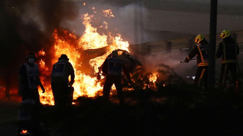 El accidente de Baréin evoca las grandes bolas de fuego de los años 70 en la Fórmula 1