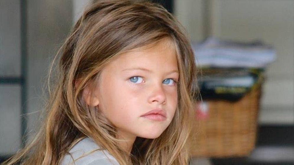 Foto: Thylane Blondeau, de pequeña. (IG)