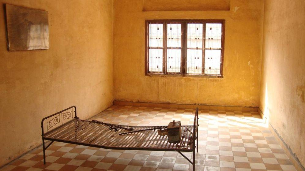 Foto: Una sala de torturas Tuol Sleng (Javier Brandoli)