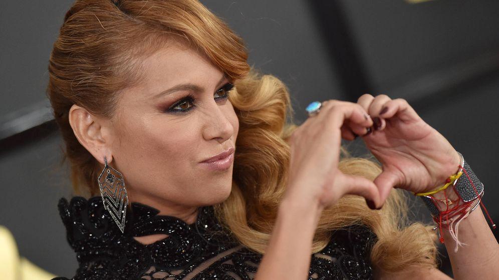 Foto: Paulina Rubio, en unos premios Grammy. (Getty)