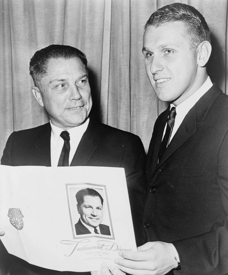 Foto: Jimmy Hoffa (izquierda) junto a su hijo James.