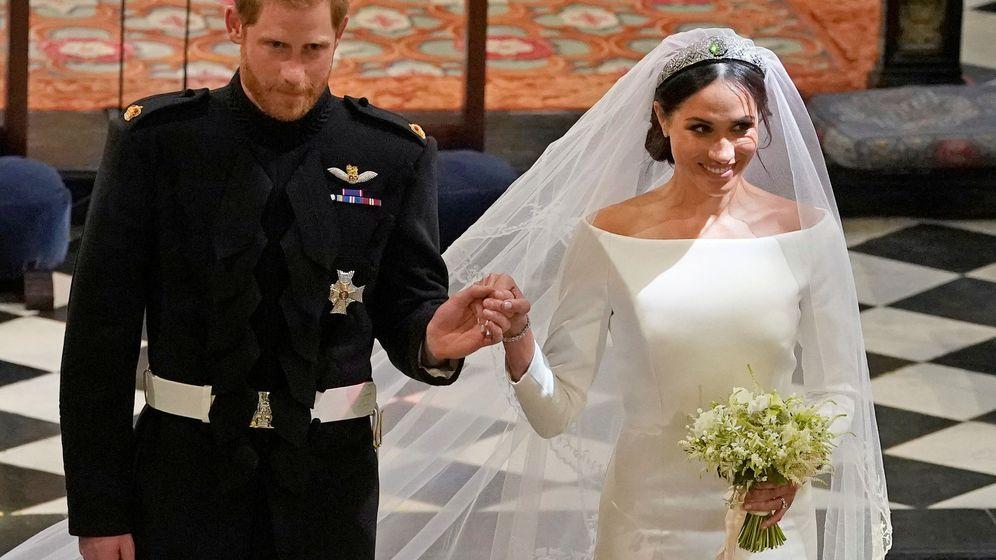 Foto: Los duques de Sussex en su boda. (Reuters)