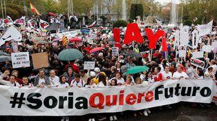 Así es el grito de la otra España en Madrid