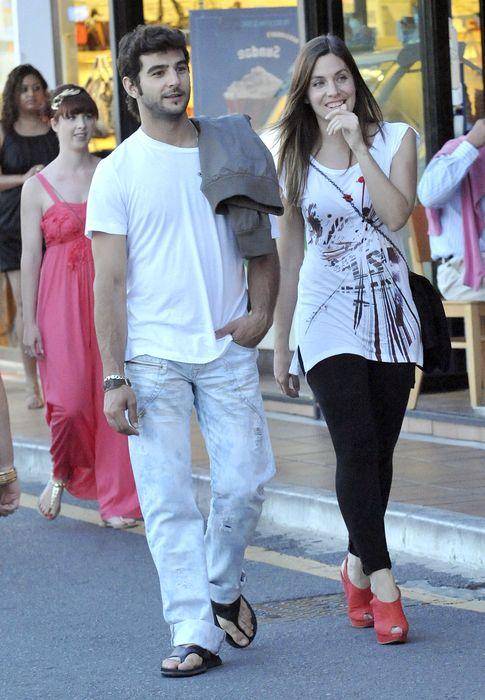 Foto: Leire Martínez y el actor en una imagen de archivo. (I.C.)