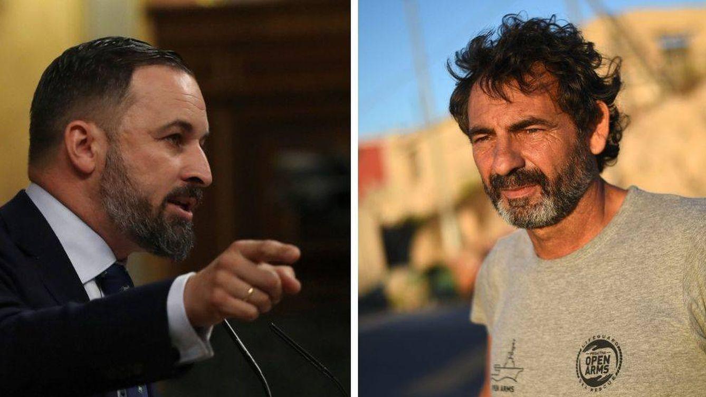 Ideología vs. dinero: rifirrafe entre Santiago Abascal y Óscar Camps por el 'Open Arms'