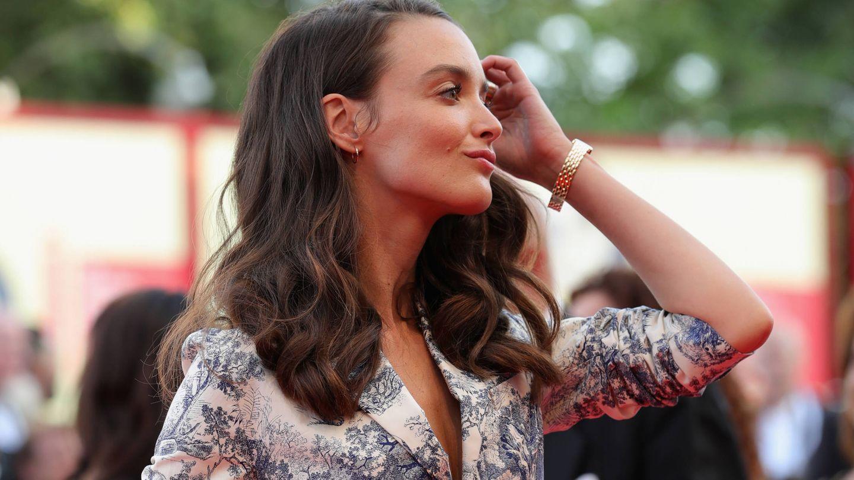 Charlotte Le Bon en la 75 edición del Festival de Cine de Venecia. (Getty)