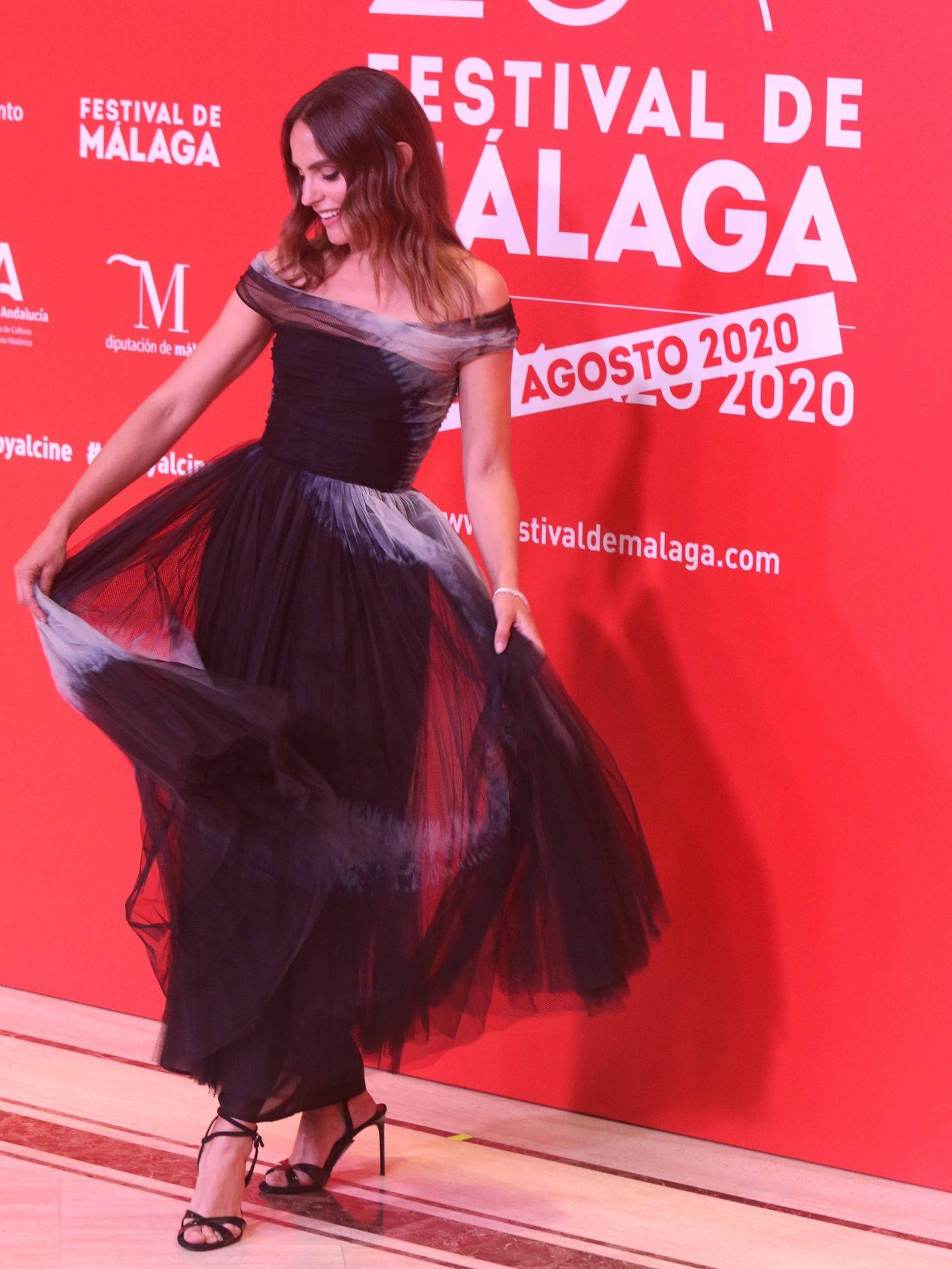 Verónica Echegui, en el Festival de Cine de Málaga con vestido de Dior. (Cordon Press)