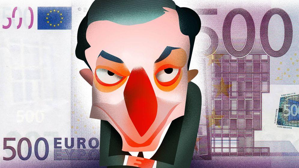 Foto: Mario Draghi. (Ilustración: Raúl Arias)
