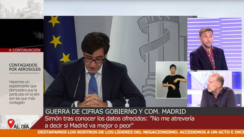Javier Ruiz y Jaime González, en 'Cuatro al día'. (Mediaset)