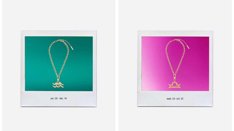Dos de los collares de Uterqüe. (Cortesía)